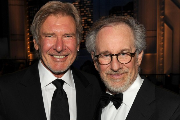 Harrison Ford with Steven Spielberg at an Event