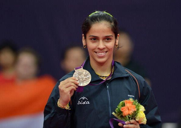 Saina Nehwal with Her Bronze Medal