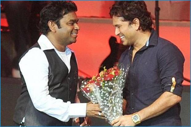 AR Rahman with Sachin Tendulkar
