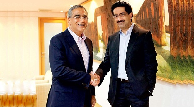 Kumar Mangalam Birla With India Today Group chairman Aroon Purie