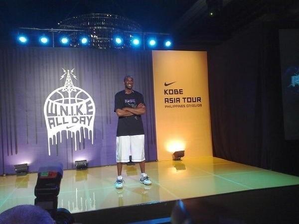 Kobe in Manika during His Asia Tour