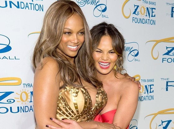 Tyra Banks With Chrissy Teigen