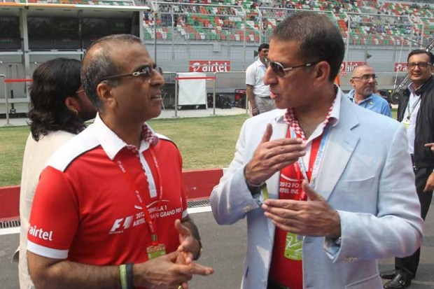 Sunil Mittal at the Formula One Indian Grand Prix