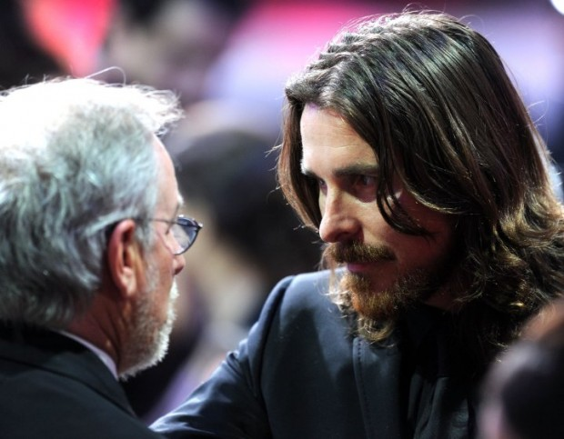 Christian Bale with Speilberg