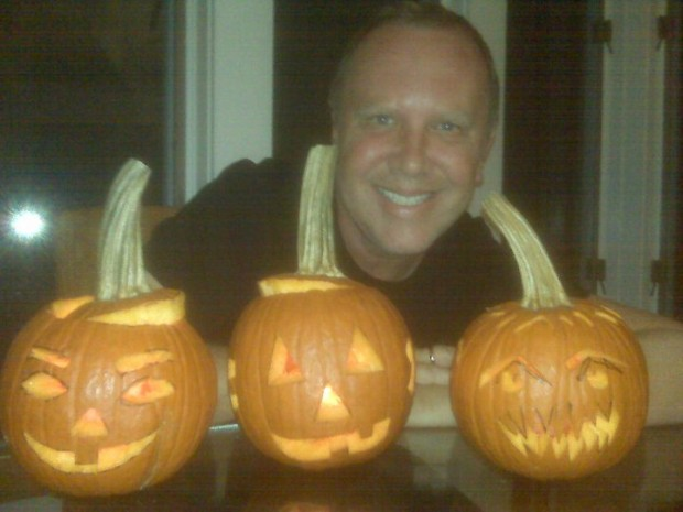 Michael Kors Posing with Some Pumpkins