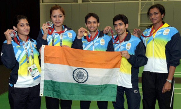 PV Sindhu and other Indian medalists at CWG