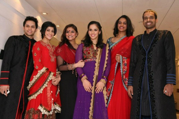 PV Sindhu and other Indian Badminton Stars during Indian Open Super Series opening cermony