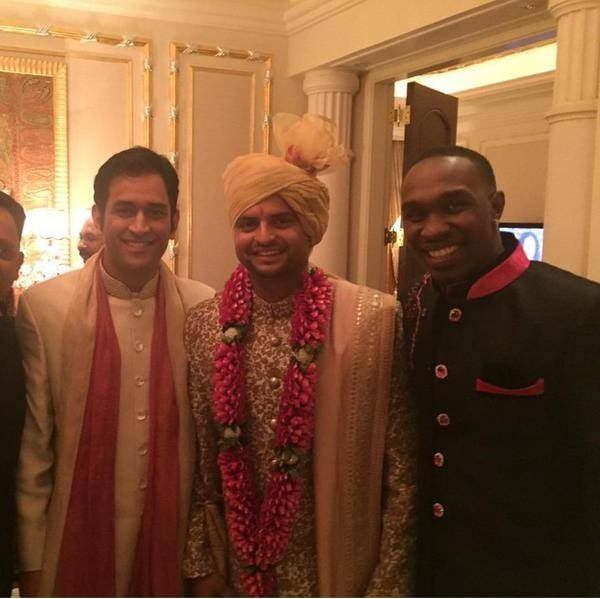 Bravo and Mahi at Raina's Wedding