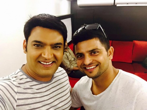 Indian Comedian Kapil Sharma having a selfie with raina