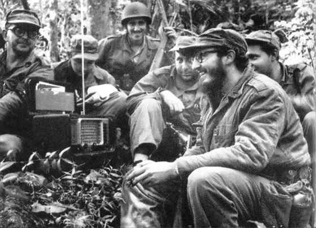 Raul Castro With His Rebel Band