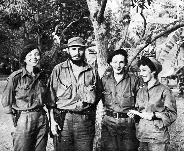 Vilma Espin, Fidel Castro, Raul Castro and Celia Sanchez