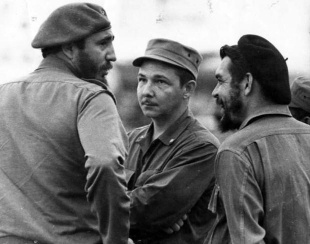 Fidel Castro, Raul Castro and Che Guevara
