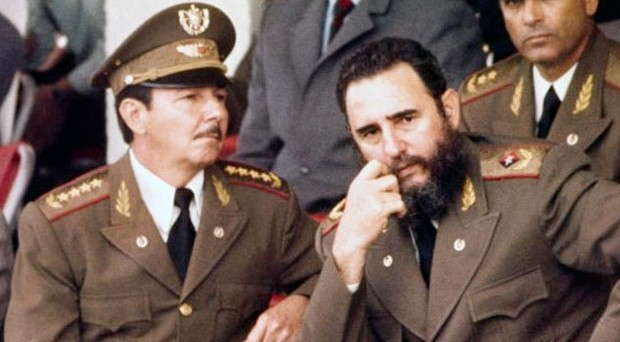 Raul Castro With His Brother Fidel Castro