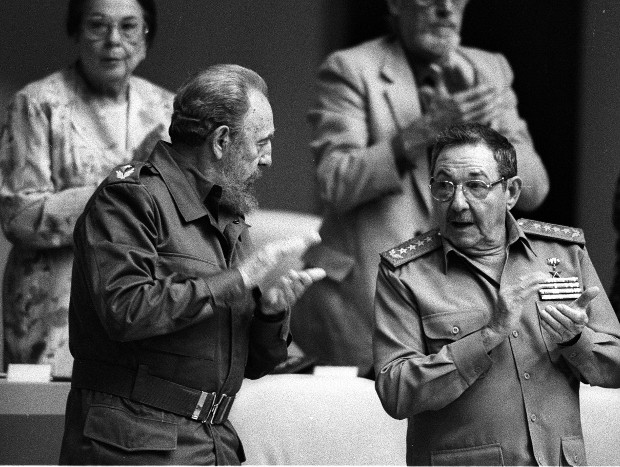 Fidel Castro and Raul Castro In National Assembly