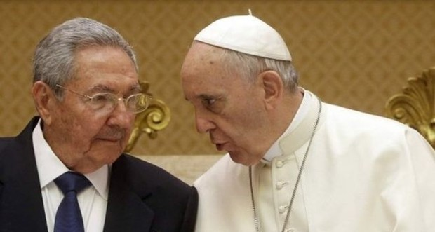 Raul Castro With Pope Francis
