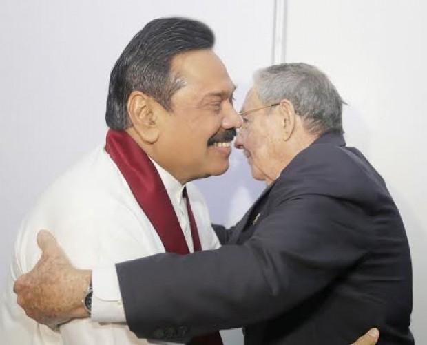 Raul Castro With Rajapaksa
