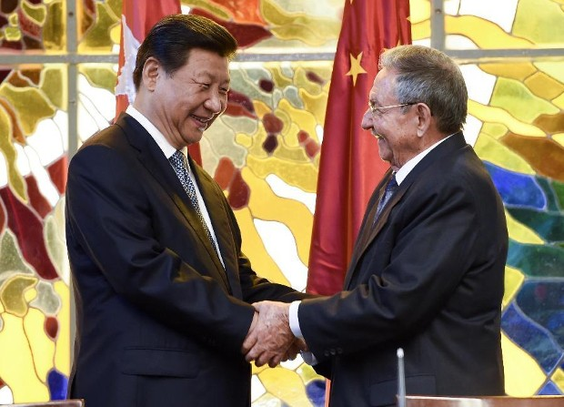 Raul Castro With Chinese President Xi Jinping