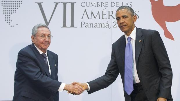 Raul Castro With Barack Obama