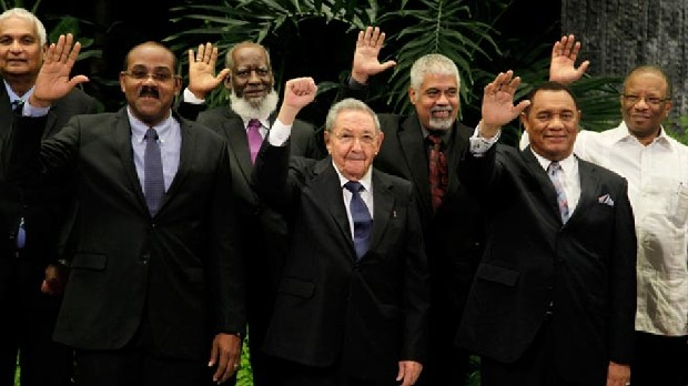 Raul Castro With Caribbean Community Leaders