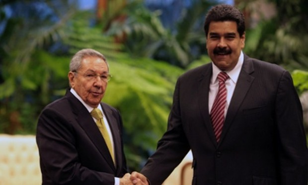 Raul Castro With President of Venezuela Nicolás Maduro