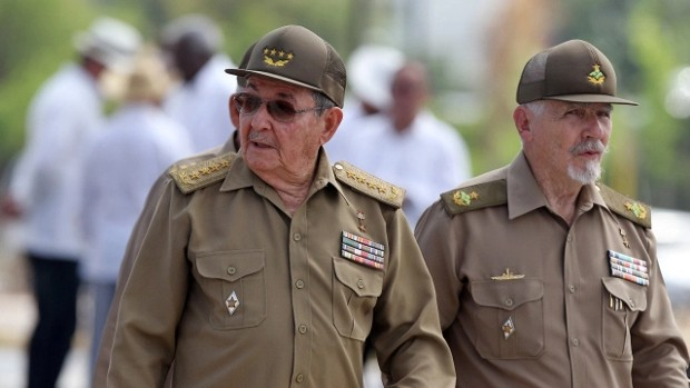 Raul Castro With Vice-President of the Council of State Ramiro Valdez