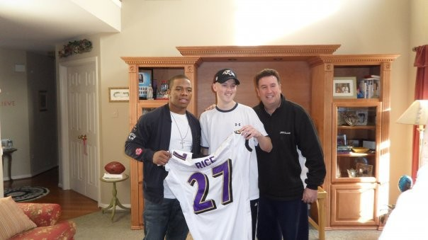 Ray Rice gave his jersey to Matt Costello