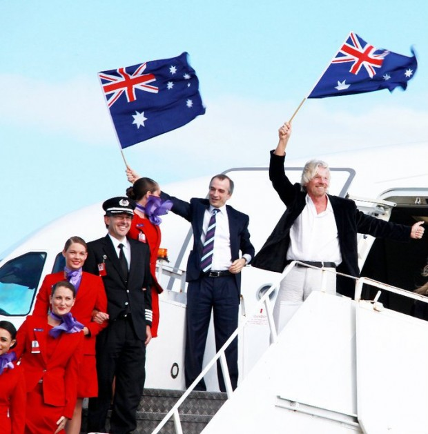 Richard Branson during Virgin Australia Launch