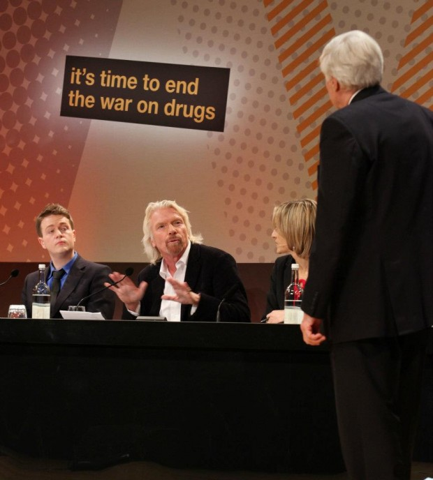 Richard during a debate on it's time to end the war on drugs