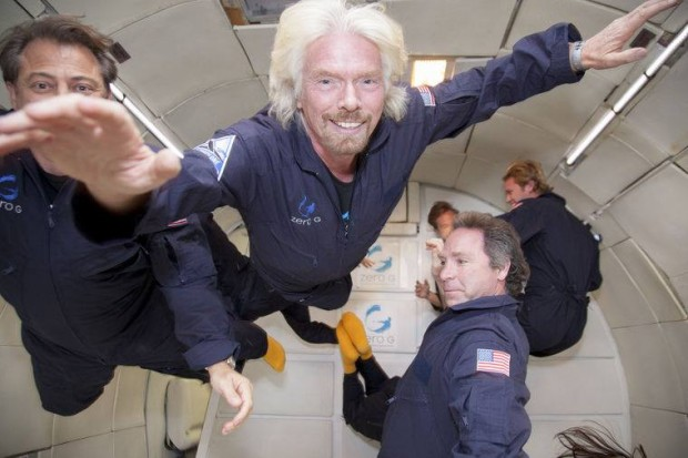 Richard Barson experiencing Zero Gravity