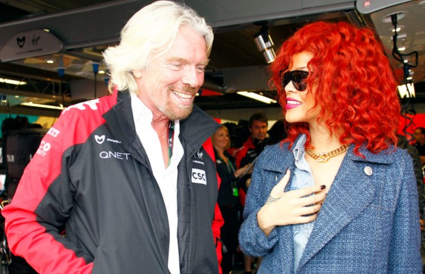 Rihanna with Richard Branson