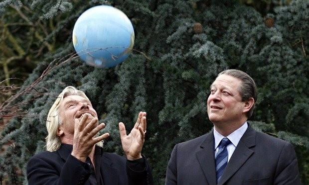 Richard Branson with former US vice-president Al Gore