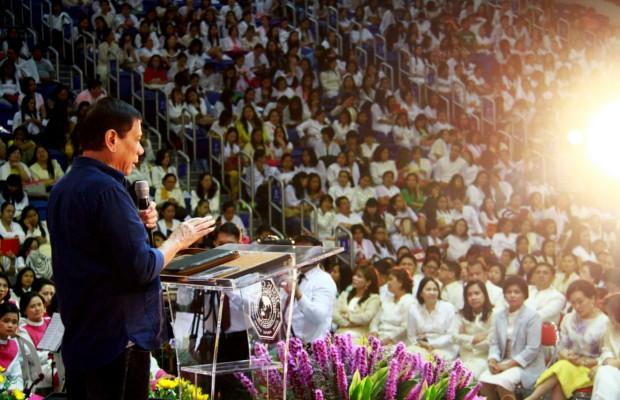 Mayor Rodrigo Duterte during an Election Campaign