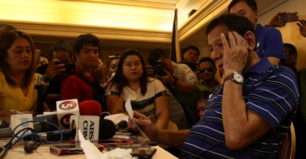 Rody during a Press Conference