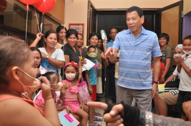 Rody Visited the Children Suffering From Cancer on Valentine's Day