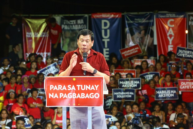 Rody Speaking during a Campaign