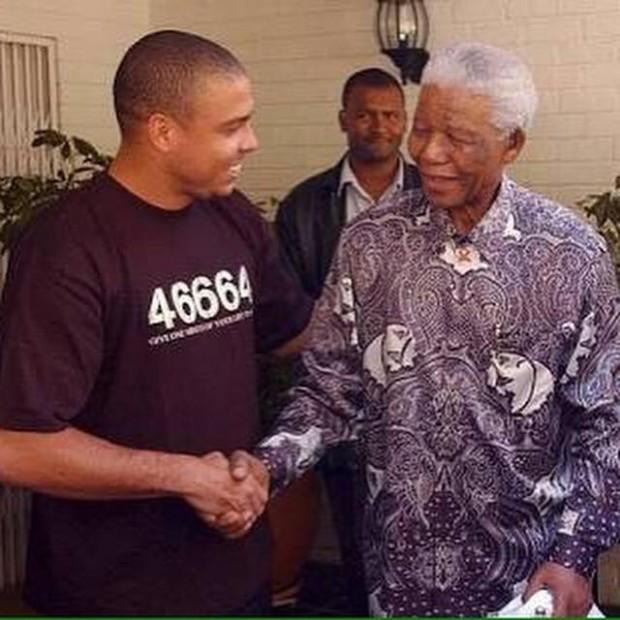 Ronaldo Meets Nelson Mandela
