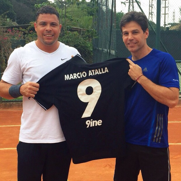 Marcus Buaiz with Ronaldo
