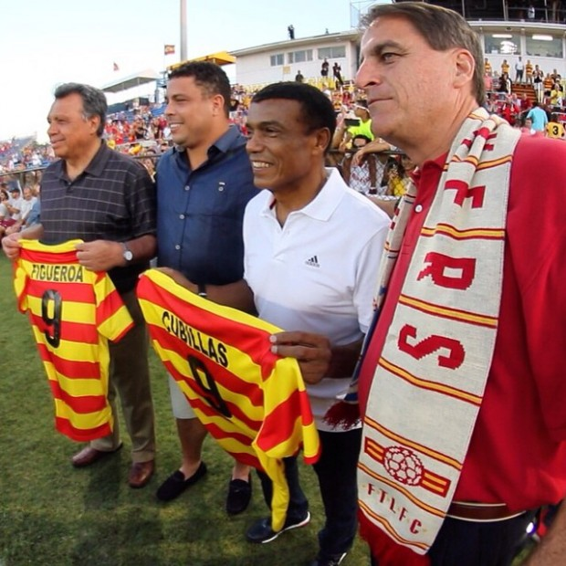 Ronaldo at Premiere of Fort Lauderdale Strikers