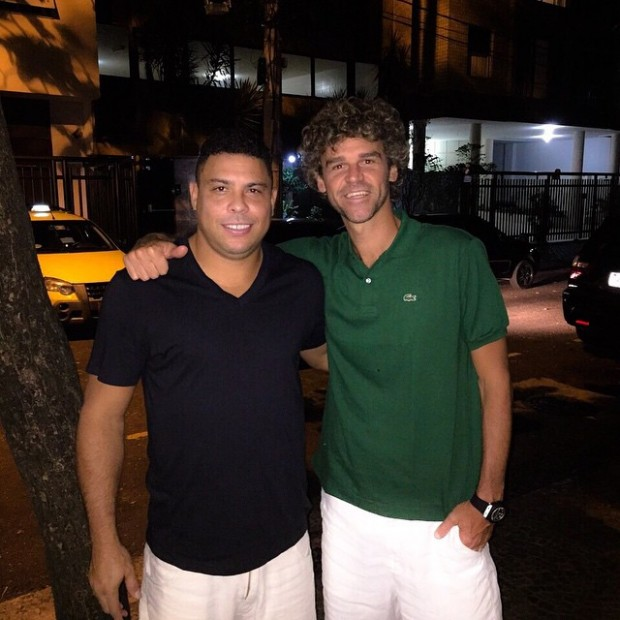 Ronaldo with tennis Player Guga