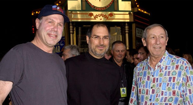 Steve Jobs with Michael Eisner and Roy Disney