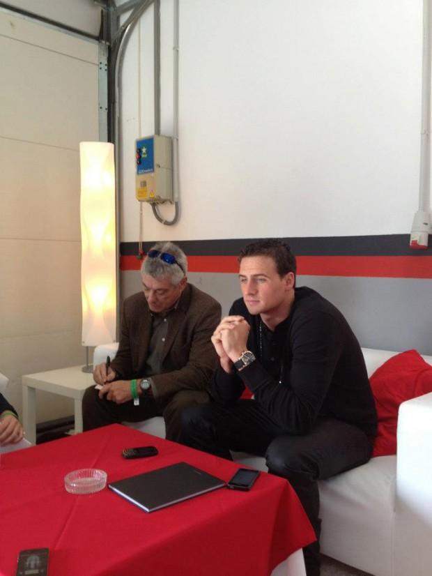 Ryan Lochte interview at Chopard Superfast Watch Launch