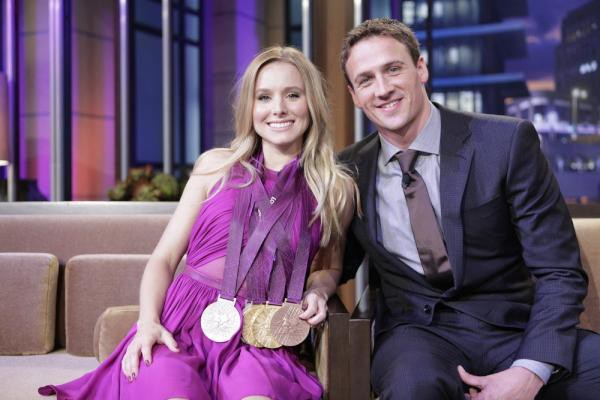 Ryan on the set of the Tonight Show with Kristen Bell