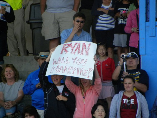 Ryan fans at Santa Clara Grand Prix