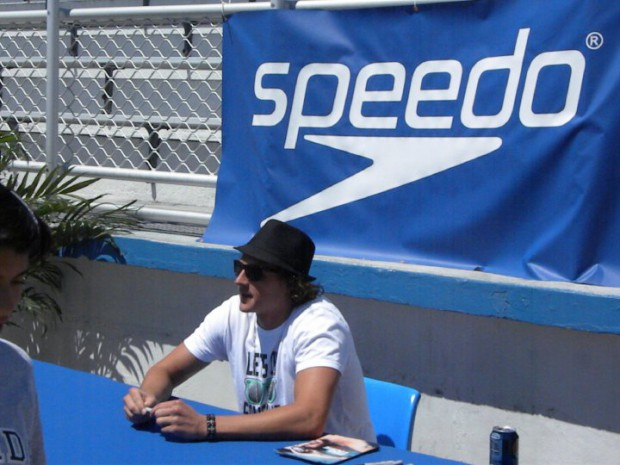Ryan at Speedo autograph signing in 2010