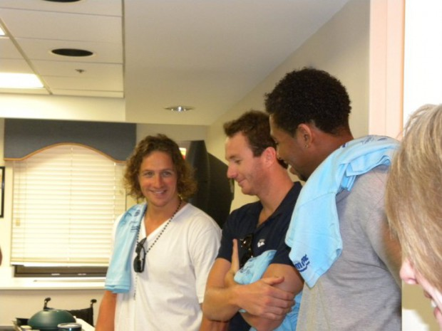 Ryan and other Olympians at Presbyterian Hemby's Children's Hospital Visit