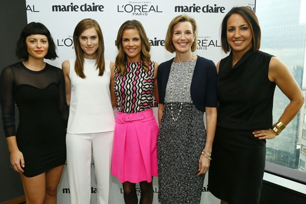 Sallie Krawcheck with Sophia Amoruso, Allison Williams, Natalie Morales and Anne Fulenwider