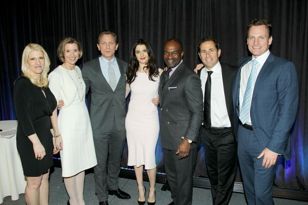 Jessica Pliska, Sallie Krawcheck, Daniel Craig, Rachel Weisz, DeMaurice Smith, Brian Weinstein and Jason Wright
