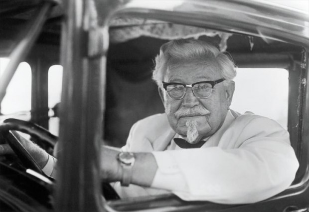 Colonel Sanders in His Car