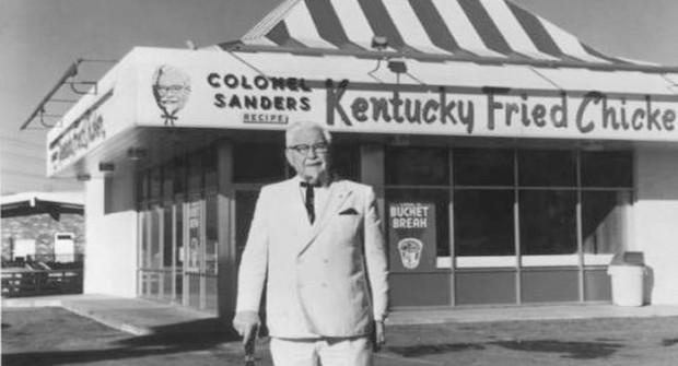 Sanders infront of KFC