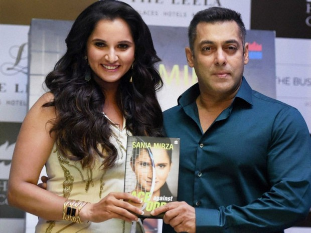 Sania Mirza with Superstar Salman Khan on event of Sania's book launch